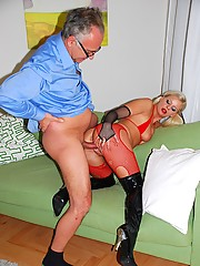 British stripper playing with a real baton