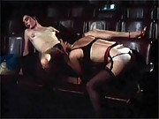 Two very horny lesbians fucking at a cinema