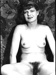 Vintage naked chicks showing hairy pussies