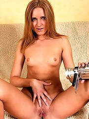 Sweetie filming her virginal body with camera