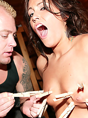 Slut gets roped, duct-taped, and fucked with no mercy