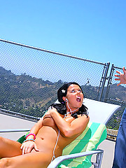 Beautiful hot long leg round titty teen gets her hox box fucked at the pool in these reality fuck pics