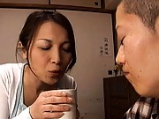 Japanese AV Model seduces a young lover in this mature video