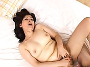 Aya Masuo sucking his cock after being fingered nice and hard