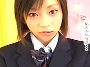 Shoko Mimura cute schoolgirl in wool knee high socks