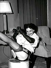 Really horny vintage naughty hairy housewifes