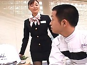 Yua Aida business professional in a short skirt and black nylons