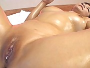 Meguru Kosaka is taking his hard shaft deep inside her pussy