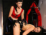 A mistress punishing her slave with pleasure