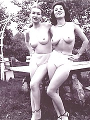 Girls showing their vintage boobs in fifties