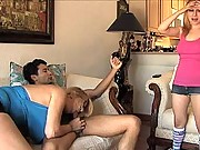 Teen and Mom suck a big cock