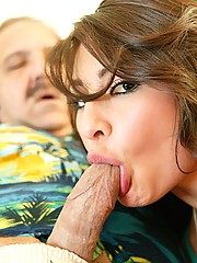 Young stupid slut tricked to suck a jurassic cock