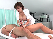 Cock milking mature handjob nurse