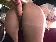 English milf riding a huge dildo
