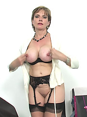 British busty hotwife CFNM action