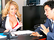 Amazing big  juicy tits ecex babe gets drilled hard in her office in these titty fucking doggy style fucking cumfaced office fucking movies