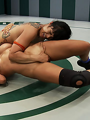 Isis Love get her ass kicked in non-scripted wrestling, She is beat and made to cum during the match, humiliated and then made to squirt on herself.