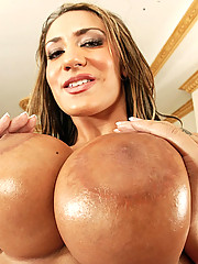 Super hot big round titts trina micheals gets her porn star pussy rocked hard in these mega dong fuck pics