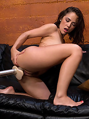 Kristina Rose fucked to oblivion by machines ramming her pussy. She has to tap on from the sybian after cumming three hard times in a row.