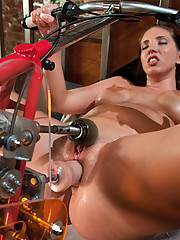 Kelly Divine does hard core anal with fucking machines. She gets nailed by a modified bicycle and the Ass Blaster.
