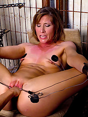 Horny prison warden torments and fucks her female prisoner, Ariel X