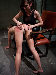Maitresse Madeline bound, humiliated, fucked and hazed in as director of Whippedass.com