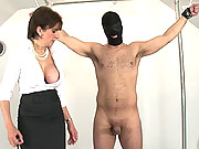Mature dominatrix sonia masturbates