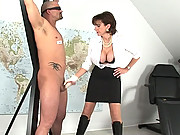 Slave cock measured then milked dry