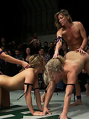 The winners fuck and make the losers cum in front of a live audience! Losers are humiliated for losing!