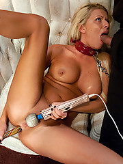 Anal whore with hot body and milk enemas.