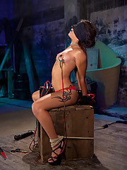 Sexy little Jynx Maze gets tied up and fucked by her lesbian pimp, who uses electricity and rough sex to keep her babes in check
