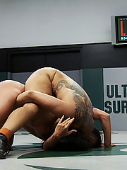 After 36 minutes of brutal non-scripted nude sex wrestling, one team comes from way behind to take the lead in the final seconds but can they hold it?