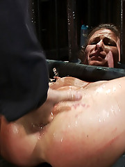 Ariel X is fisted, ass fucked, nipple clamped, strap on