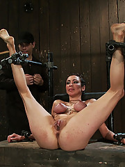 Princess Donna is bound in hard metal, helpless and sucking and fucking James Dean