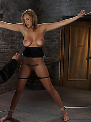 20 year old big titted girl next door gets more then she bargained for.  Gets tied up tight stripped and made to cum!