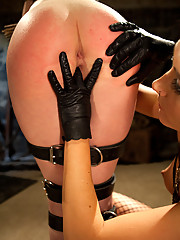 Gorgeous 19 year old blonde put in bondage and fist fucked by Sinn Sage!