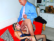 Horny old british senior shags a sexy babe