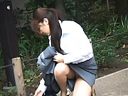 Japanese AV Model sexy Asian girl shows her panties