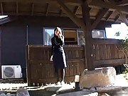 Chiaki sexy girl ready for sex outdoors in this video