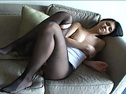 Maria Ozawa pantyhose ripped so they can play with her pussy