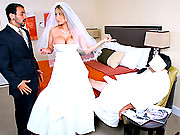 Hot big tits babe gets fucked at her wedding by the grooms man after the groom passed out