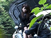 Hino Hikari naughty Asian playing with her lover in public