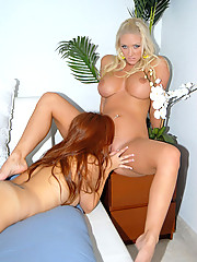 2 super sexy long leg big tits hot lesbians fuck eachother horse back in this amazing fuck lesbo pic set