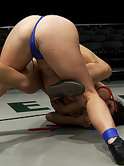 Dia Zerva destroys The Dragon, makes her cum on the mat 3 times. The Dragon is in tears trying not to cum, Dia makes her cum!  Dragon tears are yummy.