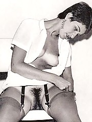 Some girls showing their vintage hairy pussy