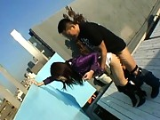 Nao Ayukawa fucked on a rooftop in this outdoor sex video
