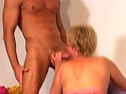 Gramma fucking two younger guys