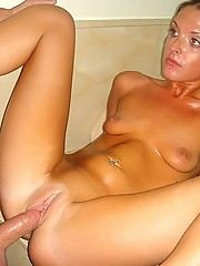 Amazing hot big tits blonde masterbates in the tub then gets her hot wet box drilled hard in these hot ex girlfriend  pics