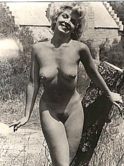 Hot vintage girls showing their hairy pussies