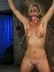 Tara Lynn Foxx is bound spread and pulled to the breaking point. She is made to cum over & over, but must suffer though heavy pain before she can cum.